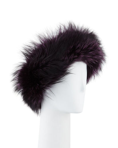 Gorski Silver Fox Fur Headband