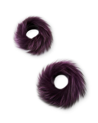 Gorski Silver Fox Fur Cuffs