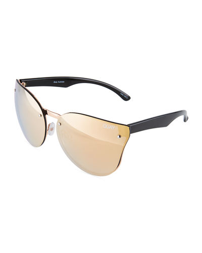 Higher Love Cat-Eye Plastic and Metal Sunglasses