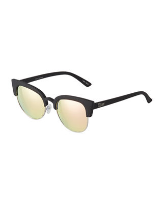 AVALON CAT-EYE PLASTIC/METAL SUNGLASSES