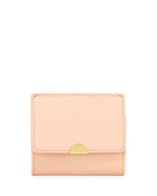 SAFFIANO LEATHER FLAP CARD COIN POUCH
