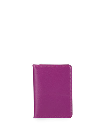 Saffiano Leather Mirror Bi-Fold Wallet