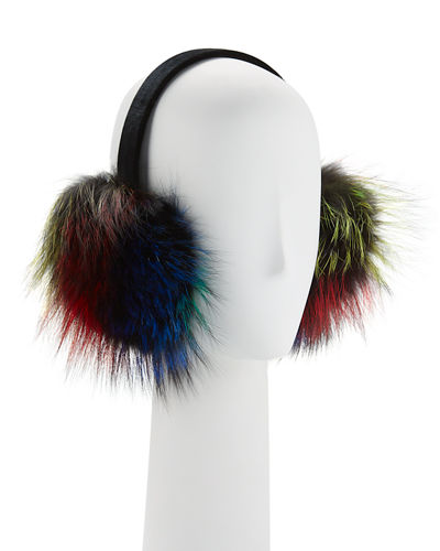 Velvet Fox Fur Earmuffs