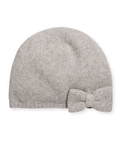 Portolano Cashmere Ribbed Bow Beanie and Matching Items