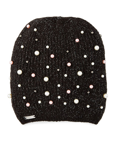 Metallic and Pearly Beanie