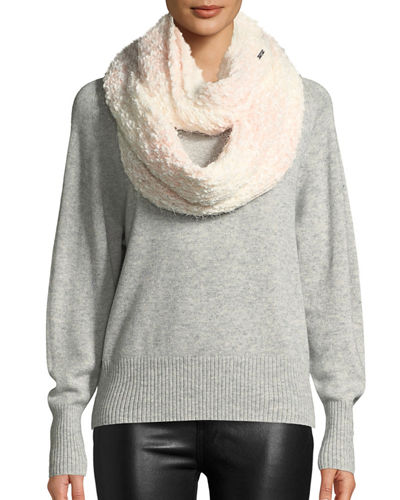 Karl Lagerfeld Ombre Tweed-Stitch Knit Infinity Scarf