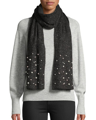 Karl Lagerfeld Metallic Pearly Scarf