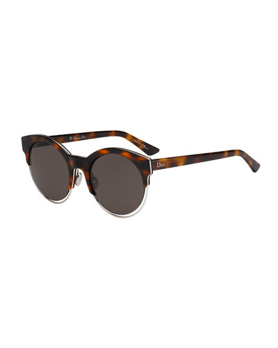 Dior Sideral 1 Metallic-Trim Cat-Eye Sunglasses