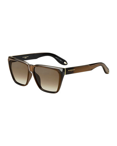 Givenchy Square Flat-Top Sunglasses