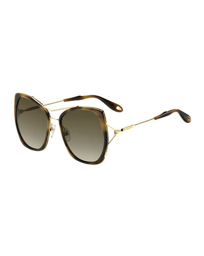 Givenchy Metal Butterfly Sunglasses