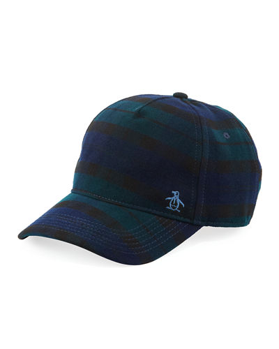 Penguin Plaid Baseball Cap