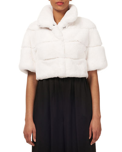 Rex Rabbit Fur Horizontal Bolero
