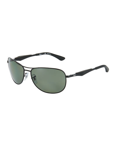 Rounded Metal Aviator Sunglasses