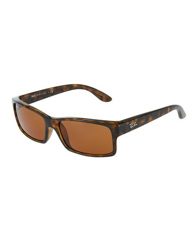 Rectangular Tortoiseshell Acetate Sunglasses