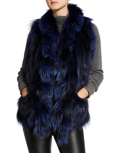 Fox Fur Ruffle Pocket Stole