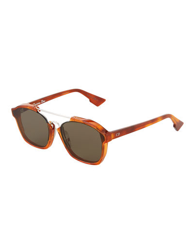 Square Havana Acetate Sunglasses