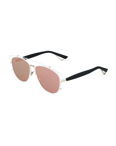 Metal/Acetate Aviator Sunglasses