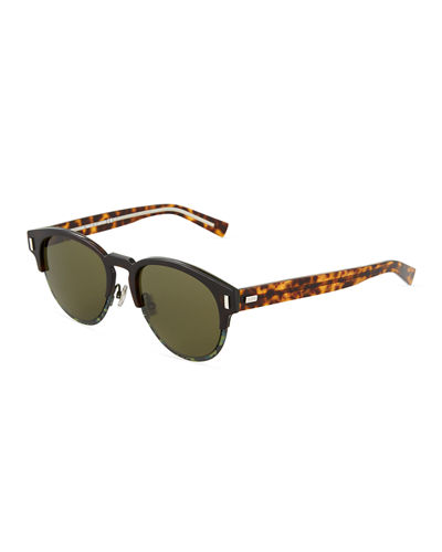 Brow-Line Acetate Sunglasses