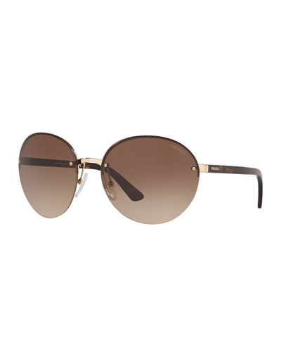 Rimless Acetate/Metal Sunglasses