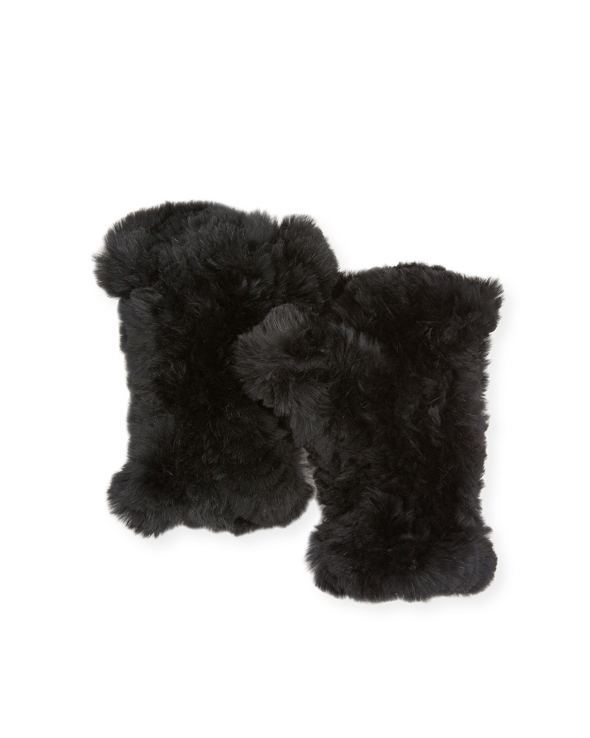 Adrienne Landau FINGERLESS FUR GLOVES