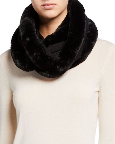 Faux-Fur Infinity Scarf