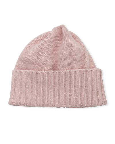 Cashmere Wide Ribbed Beanie