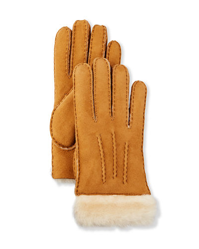 Reverse-Stitch Sheepskin Gloves