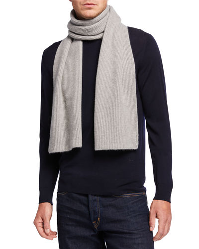 Men's Cashmere Double Racking Stitch Scarf