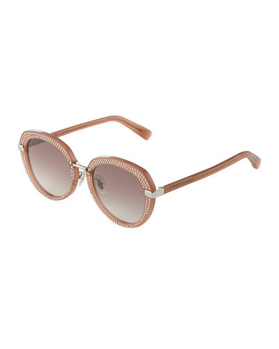 Moris Round Studded Sunglasses
