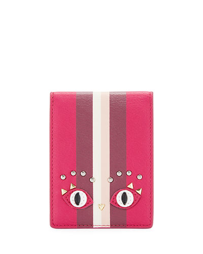 Studded Eyes Mirror & Card Case