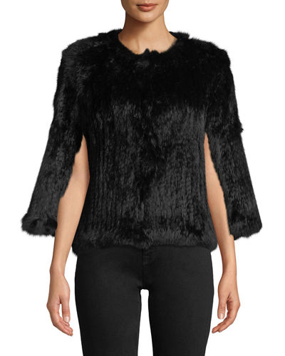 Rabbit Fur Short Cape
