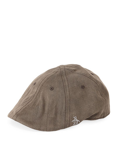 Men's Washed Denim Driving Cap