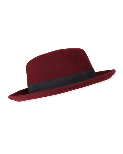Men's Partially Crushable Wool Fedora