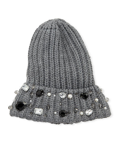 Scattered Gem Jeweled Beanie