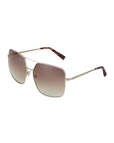 Kendall + Kylie Square Metal Sunglasses