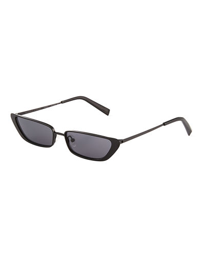 Kirra Irregular Metal Cat-Eye Sunglasses