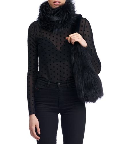 Feathered Fox Fur Collar