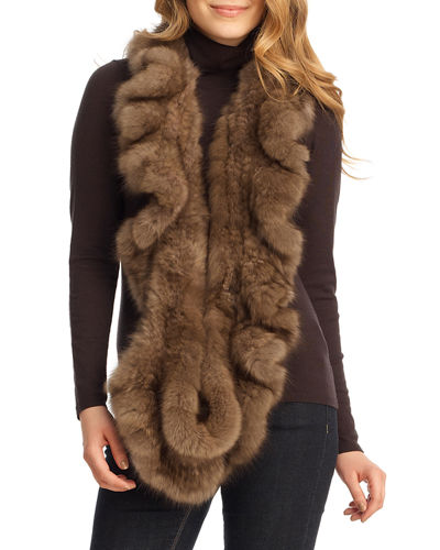 Sable Fur Infinity Scarf