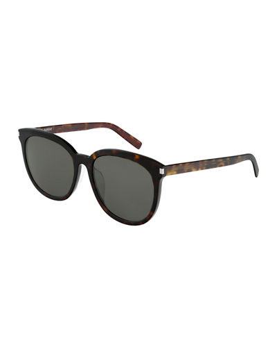 Slim Round Acetate Sunglasses