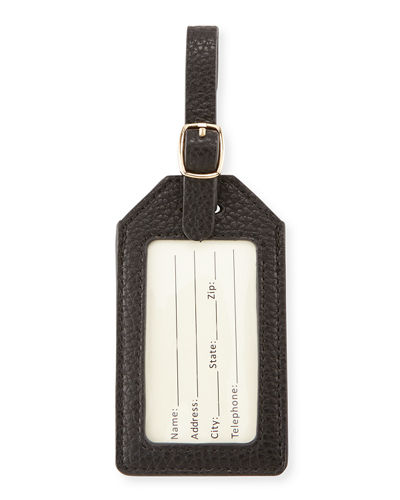 Pebbled Faux-Leather Luggage Tag