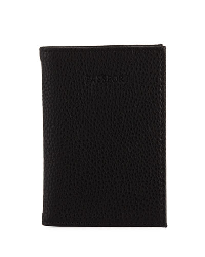 Pebbled Faux-Leather Passport Case