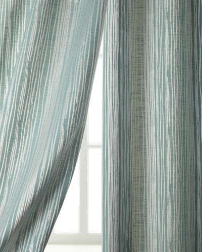 Two 108L Abstract Stripe Curtains