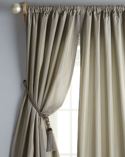 "Freda Each 48""W x 96""L Goblet-Pocket Kate Curtain"