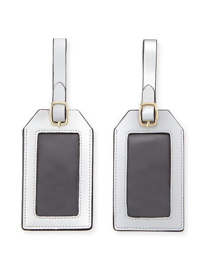 Colorblock Luggage Tag Set