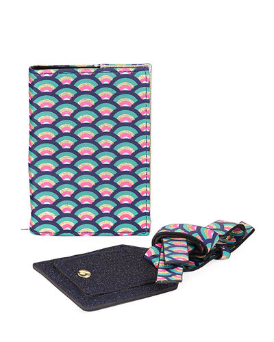 Printed Passport Holder and Luggage Tag Set