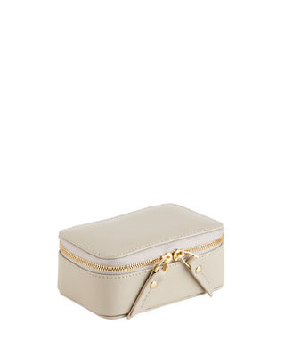 Small Saffiano Leather Jewelry Case by Neiman Marcus