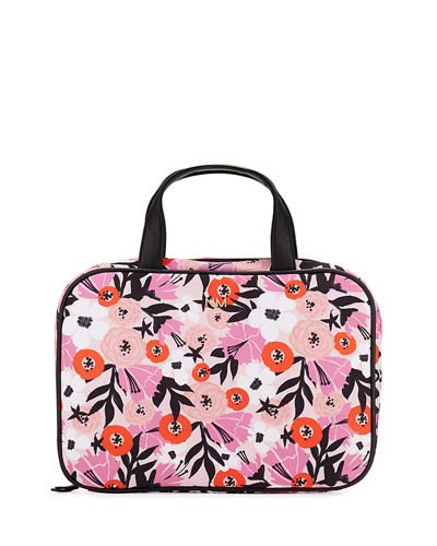 Large Lay Flat Cosmetics Bag