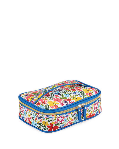 Floral-Print Carry All Zip Case