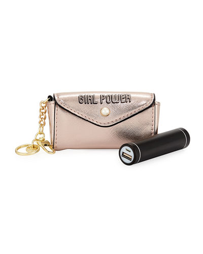 Neiman Marcus Girl Power Coin Purse Keychain with