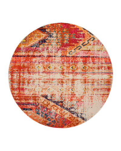 "Monaco Indoor/Outdoor Rug, 6'7"" x 6'7"" Round"